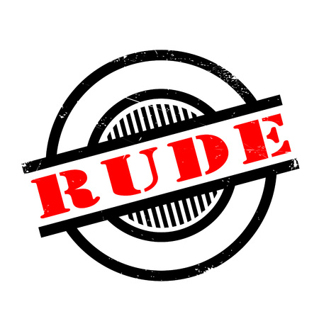 insulting: Rude rubber stamp. Grunge design with dust scratches. Effects can be easily removed for a clean, crisp look. Color is easily changed.