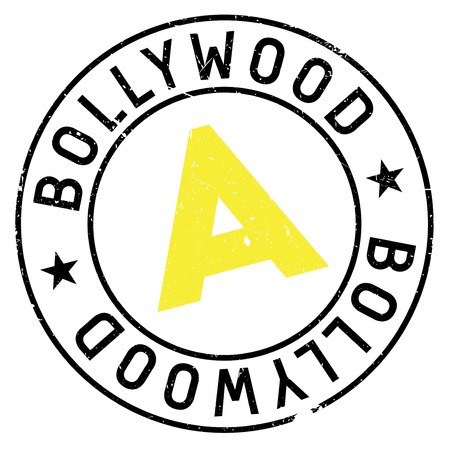 Bollywood stamp. Grunge design with dust scratches. Effects can be easily removed for a clean, crisp look. Color is easily changed.