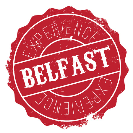 Belfast stamp. Grunge design with dust scratches. Effects can be easily removed for a clean, crisp look. Color is easily changed. Illustration