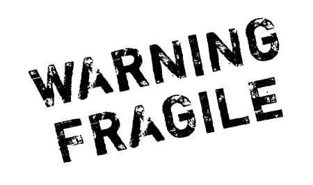 Warning Fragile rubber stamp. Grunge design with dust scratches. Effects can be easily removed for a clean, crisp look. Color is easily changed. 向量圖像