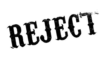Reject rubber stamp. Grunge design with dust scratches. Effects can be easily removed for a clean, crisp look. Color is easily changed. Illustration