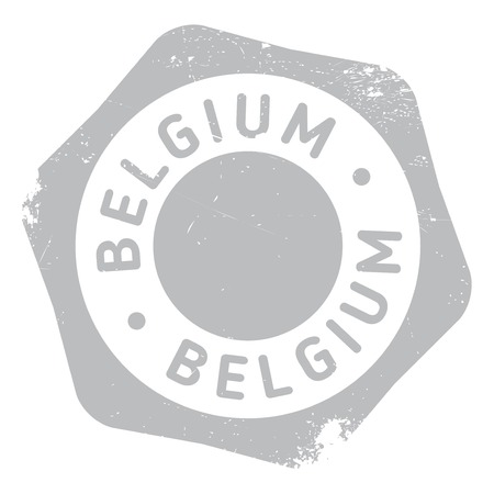 made in belgium: Belgium stamp. Grunge design with dust scratches. Effects can be easily removed for a clean, crisp look. Color is easily changed.