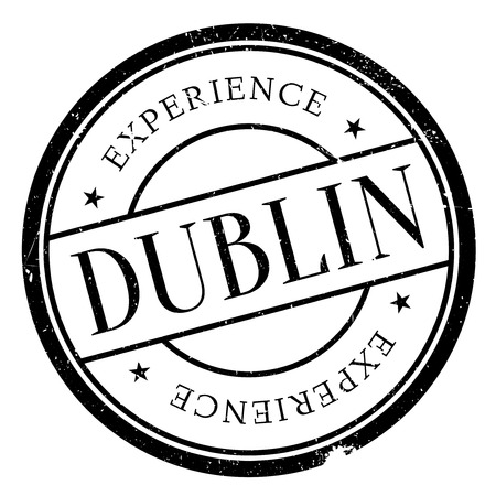 irish cities: Dublin stamp. Grunge design with dust scratches. Effects can be easily removed for a clean, crisp look. Color is easily changed. Illustration