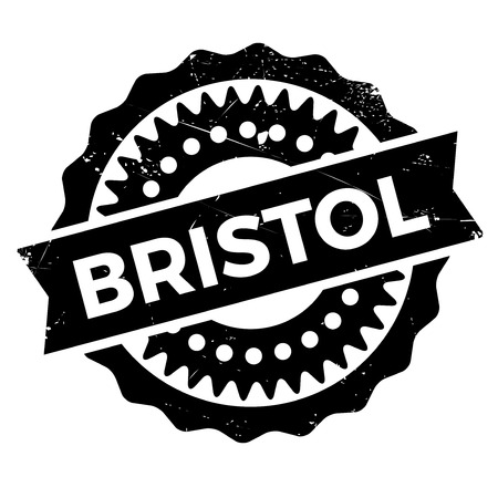 english culture: Bristol stamp. Grunge design with dust scratches. Effects can be easily removed for a clean, crisp look. Color is easily changed.