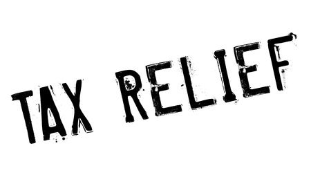 payable: Tax Relief rubber stamp. Grunge design with dust scratches. Effects can be easily removed for a clean, crisp look. Color is easily changed. Illustration