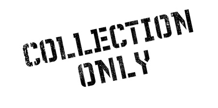 retail therapy: Collection Only rubber stamp. Grunge design with dust scratches. Effects can be easily removed for a clean, crisp look. Color is easily changed.