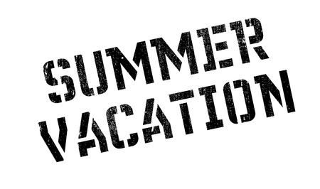 midsummer: Summer Vacation rubber stamp. Grunge design with dust scratches. Effects can be easily removed for a clean, crisp look. Color is easily changed. Illustration