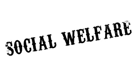 public welfare: Social Welfare rubber stamp. Grunge design with dust scratches. Effects can be easily removed for a clean, crisp look. Color is easily changed. Illustration