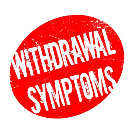 Withdrawal Symptoms rubber stamp. Grunge design with dust scratches. Effects can be easily removed for a clean, crisp look. Color is easily changed. Illustration