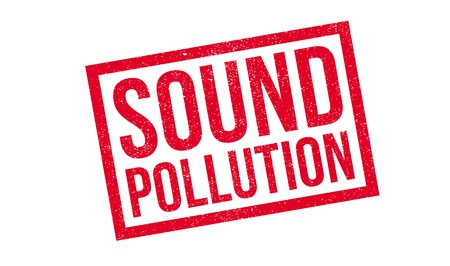 Sound Pollution rubber stamp. Grunge design with dust scratches. Effects can be easily removed for a clean, crisp look. Color is easily changed.