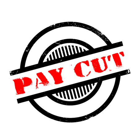decreased: Pay Cut rubber stamp. Grunge design with dust scratches. Effects can be easily removed for a clean, crisp look. Color is easily changed.