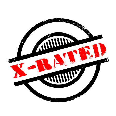 X-Rated rubber stamp. Grunge design with dust scratches. Effects can be easily removed for a clean, crisp look. Color is easily changed.