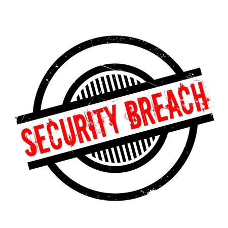 trespass: Security Breach rubber stamp. Grunge design with dust scratches. Effects can be easily removed for a clean, crisp look. Color is easily changed.