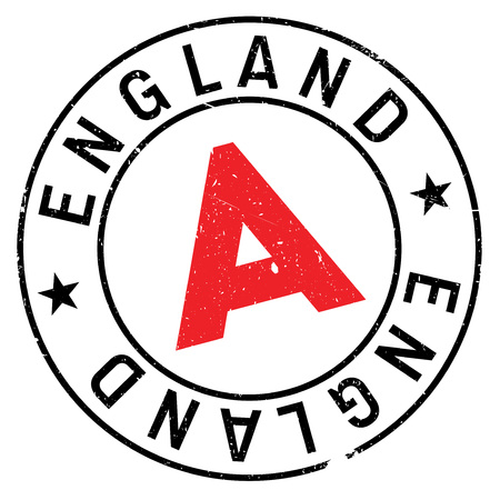England rubber stamp. Grunge design with dust scratches. Effects can be easily removed for a clean, crisp look. Color is easily changed. Illustration