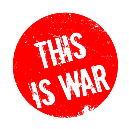 This Is War rubber stamp. Grunge design with dust scratches. Effects can be easily removed for a clean, crisp look. Color is easily changed.