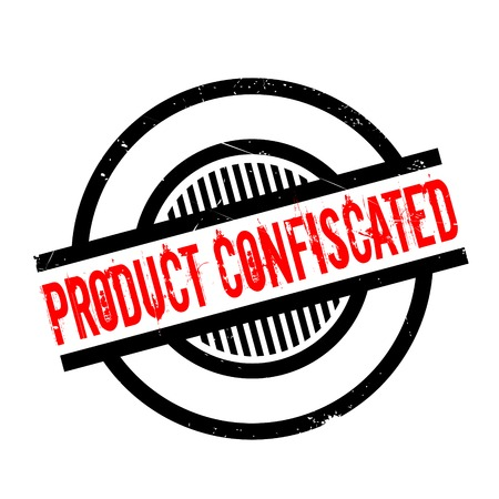 Product Confiscated rubber stamp. Grunge design with dust scratches. Effects can be easily removed for a clean, crisp look. Color is easily changed. Illustration