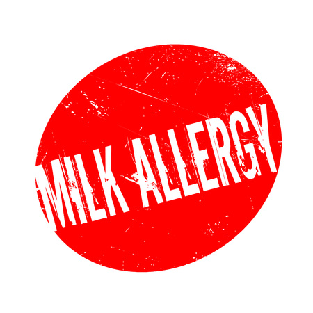 Milk Allergy rubber stamp. Grunge design with dust scratches. Effects can be easily removed for a clean, crisp look. Color is easily changed.