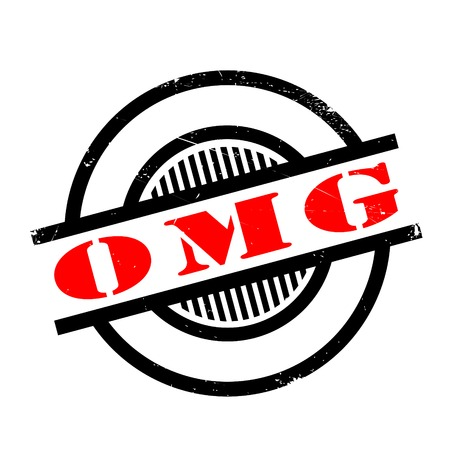 Omg rubber stamp. Grunge design with dust scratches. Effects can be easily removed for a clean, crisp look. Color is easily changed.