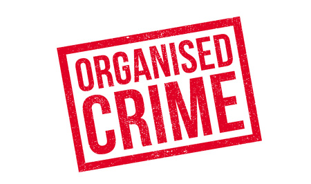 organized crime: Organised Crime rubber stamp. Grunge design with dust scratches. Effects can be easily removed for a clean, crisp look. Color is easily changed. Illustration
