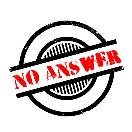 rebuttal: No Answer rubber stamp. Grunge design with dust scratches. Effects can be easily removed for a clean, crisp look. Color is easily changed.