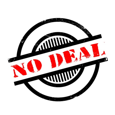 unapproved: No Deal rubber stamp. Grunge design with dust scratches. Effects can be easily removed for a clean, crisp look. Color is easily changed.