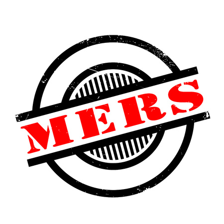 the bacteria signal: Mers Middle East Respiratory Syndrome rubber stamp. Grunge design with dust scratches. Effects can be easily removed for a clean, crisp look. Color is easily changed.