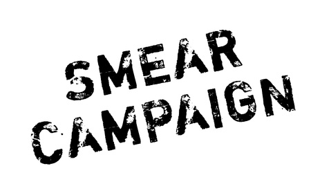 smeared: Smear Campaign rubber stamp. Grunge design with dust scratches. Effects can be easily removed for a clean, crisp look. Color is easily changed.