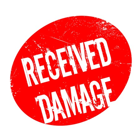 ravage: Received Damage rubber stamp. Grunge design with dust scratches. Effects can be easily removed for a clean, crisp look. Color is easily changed. Illustration