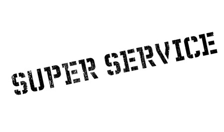 sensational: Super Service rubber stamp. Grunge design with dust scratches. Effects can be easily removed for a clean, crisp look. Color is easily changed.