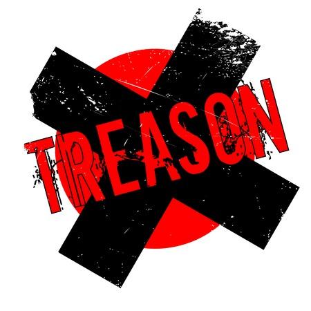 Treason rubber stamp. Grunge design with dust scratches. Illustration