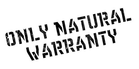 matchless: Only Natural Warranty rubber stamp. Grunge design with dust scratches.