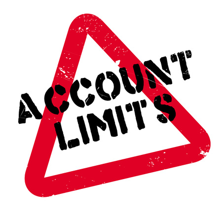 Account Limits rubber stamp. Grunge design with dust scratches.