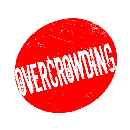 Overcrowding rubber stamp. Grunge design with dust scratches.