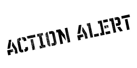 Action Alert rubber stamp. Grunge design with dust scratches.
