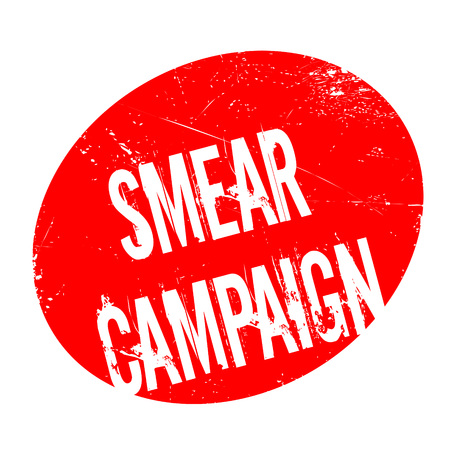 Smear Campaign rubber stamp. Grunge design with dust scratches.