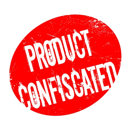 Product Confiscated rubber stamp. Grunge design with dust scratches. Effects can be easily removed for a clean, crisp look. Color is easily changed. Çizim