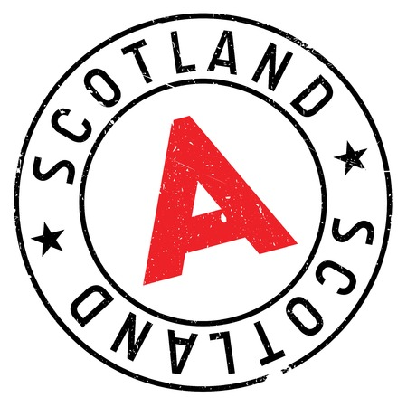 Scotland rubber stamp. Grunge design with dust scratches. Effects can be easily removed for a clean, crisp look. Color is easily changed. Illustration