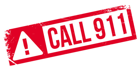 resound: Call 911 rubber stamp. Grunge design with dust scratches. Effects can be easily removed for a clean, crisp look. Color is easily changed.