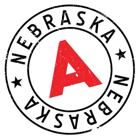Nebraska rubber stamp. Grunge design with dust scratches. Effects can be easily removed for a clean, crisp look. Color is easily changed. Illustration
