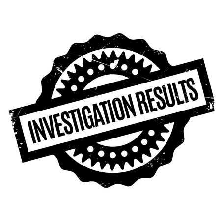 interrogate: Investigation Results rubber stamp. Grunge design with dust scratches. Effects can be easily removed for a clean, crisp look. Color is easily changed. Illustration
