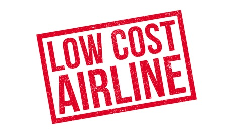 airway: Low Cost Airline rubber stamp. Grunge design with dust scratches. Effects can be easily removed for a clean, crisp look. Color is easily changed.