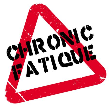 Chronic Fatique rubber stamp. Grunge design with dust scratches. Effects can be easily removed for a clean, crisp look. Color is easily changed. Illustration