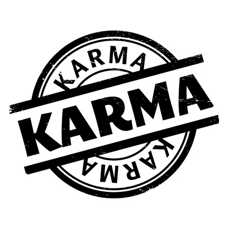 brahman: Karma rubber stamp. Grunge design with dust scratches. Effects can be easily removed for a clean, crisp look. Color is easily changed.