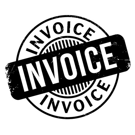 Invoice rubber stamp. Grunge design with dust scratches. Effects can be easily removed for a clean, crisp look. Color is easily changed.