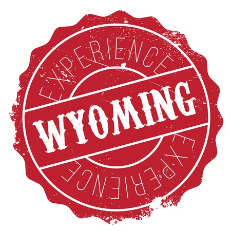 rockies: Wyoming rubber stamp. Grunge design with dust scratches. Effects can be easily removed for a clean, crisp look. Color is easily changed.