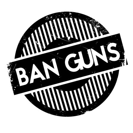 rid: Ban Guns rubber stamp. Grunge design with dust scratches. Effects can be easily removed for a clean, crisp look. Color is easily changed.