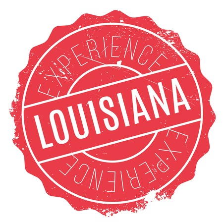 baton: Louisiana rubber stamp. Grunge design with dust scratches. Effects can be easily removed for a clean, crisp look. Color is easily changed.