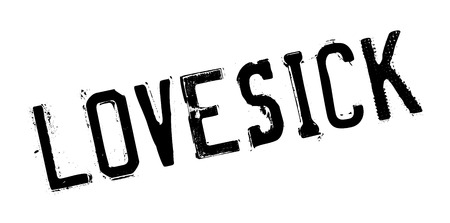 Lovesick rubber stamp. Grunge design with dust scratches. Effects can be easily removed for a clean, crisp look. Color is easily changed.