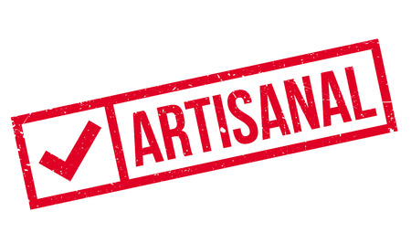 Artisanal rubber stamp. Grunge design with dust scratches. Effects can be easily removed for a clean, crisp look. Color is easily changed. Illustration