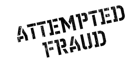 attempted: Attempted Fraud rubber stamp. Grunge design with dust scratches. Effects can be easily removed for a clean, crisp look. Color is easily changed.